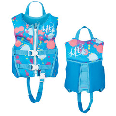 Full Throttle Hinged Rapid-Dry Flex-Back Life Vest - Child 30-50lbs - Aqua [142500-505-001-19]