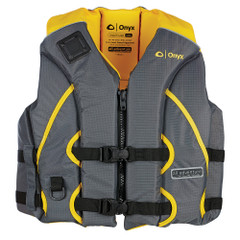 Onyx All Adventure Shoal Life Jacket - Adult S\/M - Yellow\/Grey [121000-300-030-15]