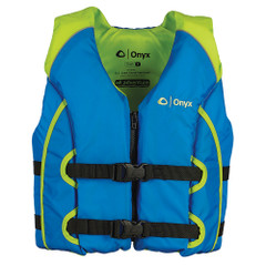 Onyx All Adventure Youth Life Jacket - 50-90lbs - Blue [121000-400-002-15]