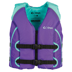 Onyx All Adventure Youth Life Jacket - 50-90lbs - Purple [121000-505-002-15]