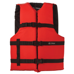 Onyx Nylon General Purpose Life Jacket - Adult Universal - Red [103000-100-004-12]