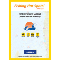 Fishing Hot Spots PRO USA 2019 Freshwater Mapping Nationwide Inland Lakes  Waterways f\/Lowrance  Simrad Units [E119]