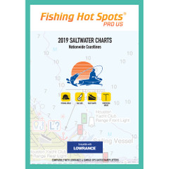 Fishing Hot Spots Pro SW 2019 Saltwater Charts Nationwide Coastlines f\/Lowrance  Simrad Units [E189]