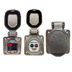 SmartPlug Combo Kit w\/ELCI Sensor  50 Amp Breaker\/Stainless Steel Door [ELCIBRKR50SS]