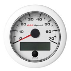 """VDO 3-3\/8"""" (85mm) OceanLink GPS Speedometer 0-70 - White Dial  Bezel [A2C1352090001]"""