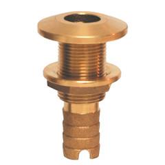 "GROCO Bronze Hose Barb Thru-Hull Fitting - 1-1\/2"" [HTH-1500]"