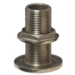 "GROCO 1\/2"" NPS NPT Combo Stainless Steel Thru-Hull Fitting w\/Nut [TH-500-WS]"