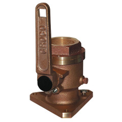 "GROCO 3\/4"" Bronze Flanged Full Flow Seacock [BV-750]"