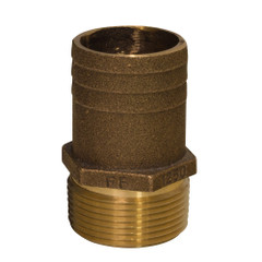 "GROCO 2"" NPT x 2-1\/4"" Bronze Full Flow Pipe to Hose Straight Fitting [FF-2000]"