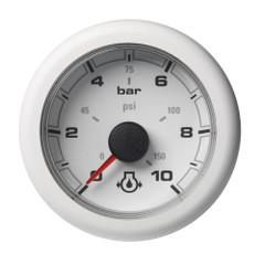 VDO OceanLink Engine Oil Pressure 10 bar \/ 150 psi White Dial  Bezel [A2C1066010001]