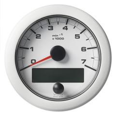 """VDO 3-3\/8"""" (85mm) OceanLink NMEA 2000 Tach - 7000 RPM - White Dial  Bezel [A2C1065820001]"""
