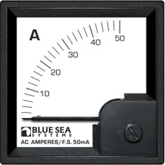 Blue Sea 1058 AC DIN Ammeter - 0 to 50A w\/Coil [1058]