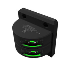 Lopolight Double Starboard SideLight - Vertical Mount - Black Housing - 2nm - Green [301-001ST-B]