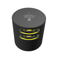 Lopolight Double Yellow Stern Towing Light - 3nm - Black Housing - Horizontal Mount [301-113ST-B]