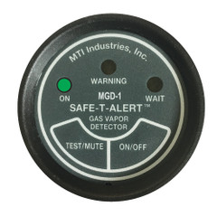 "Safe-T-Alert Gas Vapor Alarm UL 2"" Instrument Case - Black [MGD-1]"