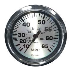 "Faria 4"" Speedometer (65 MPH) Pitot - Spun Silver [36010]"