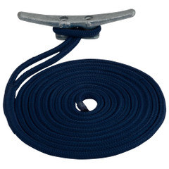 "Sea-Dog Double Braided Nylon Dock Line - 5\/8"" x 35 - Navy [302116035NV-1]"