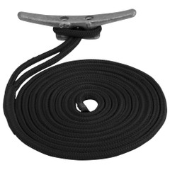 "Sea-Dog Double Braided Nylon Dock Line - 3\/4"" x 30 - Black [302119030BK-1]"