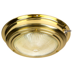 "Sea-Dog Brass Dome Light - 5"" Lens [400205-1]"