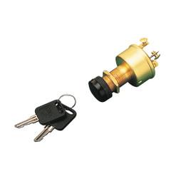 Sea-Dog Brass 3-Position Key Ignition Switch w\/Cap [420355-1]
