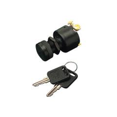 Sea-Dog Polyprolylene Three Position Key Ignition Switch with Cap Short Shaft [420366-1]