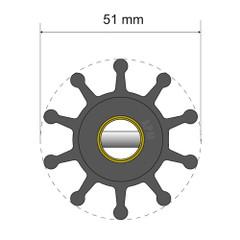 Albin Pump Premium Impeller Kit - 51 x 12.7 x 22mm - 10 Blade - Pin Insert [06-01-011]