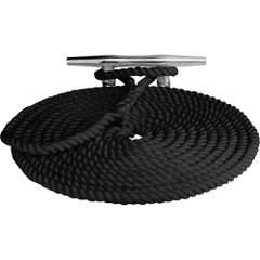 "Sea-Dog Twisted Nylon Dock Line - 3\/4"" x 50 - Black [301119050BK-1]"