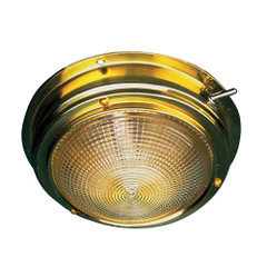 "Sea-Dog Brass Dome Light - 4"" Lens [400195-1]"
