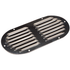 "Sea-Dog Stainless Steel Louvered Vent - Oval - 9-1\/8"" x 4-5\/8"" [331405-1]"