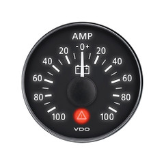 "VDO ViewLine Onyx 2-1\/16"" 100A Ammeter - Includes Required Shunt - Bezel NOT Included [A2C53210973-S]"