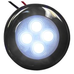 Aqua Signal Bogota 4 LED Round Light - White LED w\/Stainless Steel Housing [16404-7]