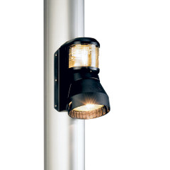 Aqua Signal Series 41 Masthead\/Foredeck Combo Mast Mount Light - 12V- Black Housing [41404-1]