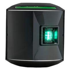 Aqua Signal Series 44 Starboard Side Mount LED Light - 12V\/24V - Black Housing [44200-7]