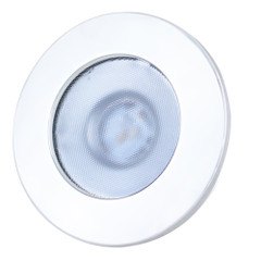 Lunasea Gen 3 Indoor\/Outdoor Recessed 3.5 LED Light - 2700K 85 CRI Dimmable COB LED - Warm White\/White SS Bezel [LLB-46WW-3A-WH]