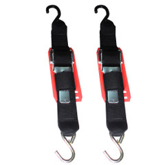 "Rod Saver Paddle Buckle Trailer Tie-Down w\/Vinyl Pad - 2"" x 2 - Pair [2PB2VP]"