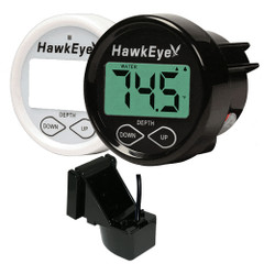 HawkEye DepthTrax 1BX In-Dash Digital Depth  Temp Gauge - Transom Mount [DT1BX-TM]