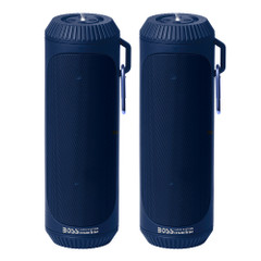 Boss Audio Bolt Marine Bluetooth Portable Speaker System with Flashlight - Pair - Blue [BOLTBLU]