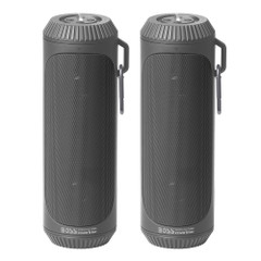 Boss Audio Bolt Marine Bluetooth Portable Speaker System with Flashlight - Pair - Grey [BOLTGRY]