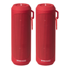 Boss Audio Bolt Marine Bluetooth Portable Speaker System with Flashlight - Pair - Red [BOLTRED]