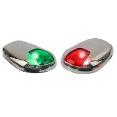 Sea-Dog Stainless Steel Side Mount LED Navigation Lights - 2 NM - Port  Starboard [400079-1]