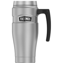 Thermos 16oz Stainless Steel Travel Mug - Matte Steel - 7 Hours Hot\/18 Hours Cold [SK1000MSTRI4]