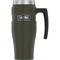 Thermos 16oz Stainless Steel Travel Mug - Matte Army Green - 7 Hours Hot\/18 Hours Cold [SK1000AG4]