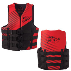 Full Throttle Adult Rapid Dry PFD - L\/XL - Red\/Black [142000-700-050-19]