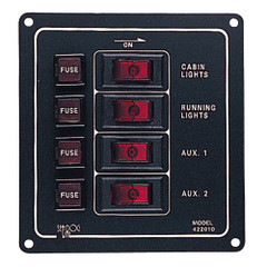 Sea-Dog Aluminum Switch Panel - Vertical - 4 Switch [422010-1]