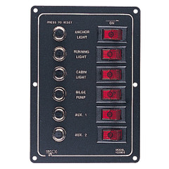 Sea-Dog Aluminum Circuit Breaker Panel - 6 Circuit [422800-1]