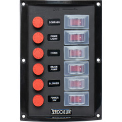 Sea-Dog Splash Guard Switch Panel Vertical - 6 Switch [424116-1]
