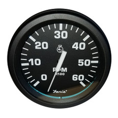 "Faria Heavy-Duty Black 4"" Tachometer (6000 RPM) (Gas) (Ignition Signal 4, 6, 8 cyl) [TC9755]"