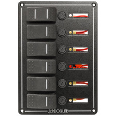Sea-Dog Rocker Switch Panel - 6 Circuit [425160-1]