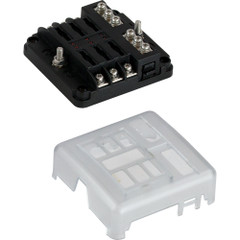 Sea-Dog Blade Style LED Indicator Fuse Block w\/Negative Bus Bar - 6 Circuit [445185-1]