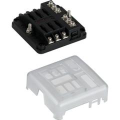 Sea-Dog Blade Style LED Indicator Fuse Block w\/Negative Bus Bar - 6 Circuit [445185-1]